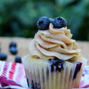 Blueberry Pancake Cupcakes