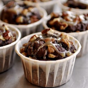 Chocolate Turtle Muffins