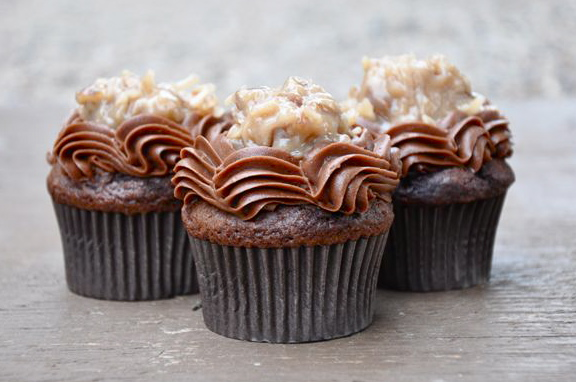 German Chocolate Cupcakes - Your Cup of Cake