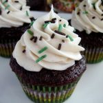 Chocolate Zucchini Cupcakes with Cinnamon Buttercream