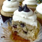 Dark Chocolate Chip Cupcakes with Cream Cheese Buttercream