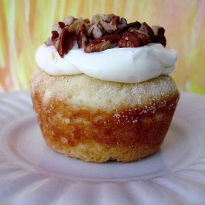 Orange Muffins/Cupcakes with Cream Cheese Topping