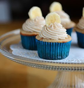 Banana Cinnamon Cupcakes with Nutella Centers