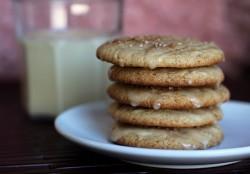 Eggnog Malt Cookies