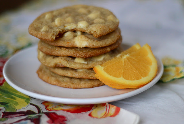 Orange White Chocolate Chip Cookies - Your Cup of Cake