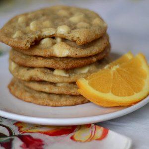 Orange White Chocolate Chip Cookies