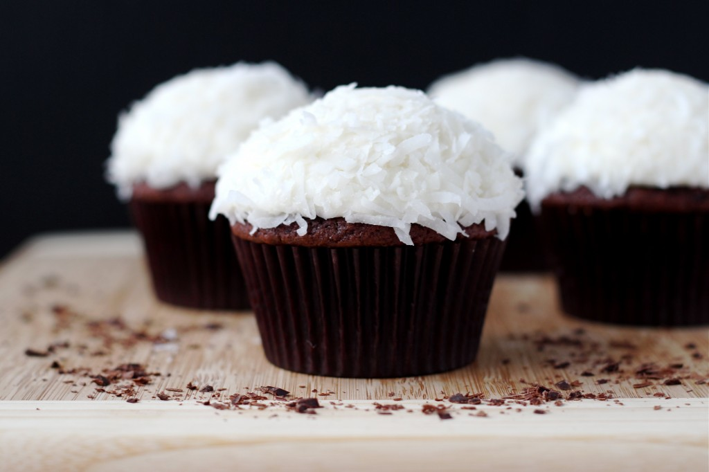 Chocolate Coconut Rum Cupcakes And An Announcement Recipe — Dishmaps