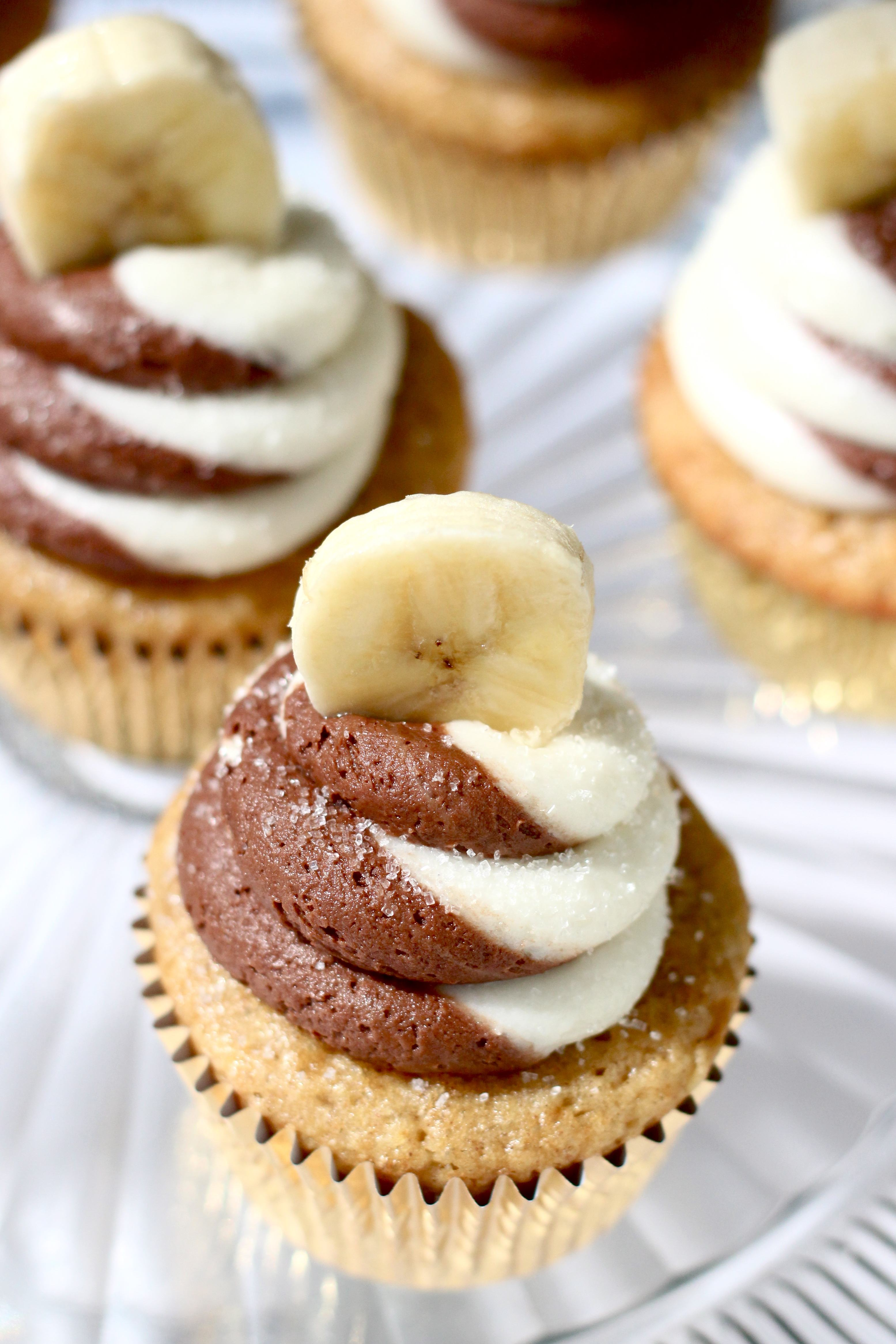 Banana Chocolate Swirl Cupcakes - Your Cup of Cake