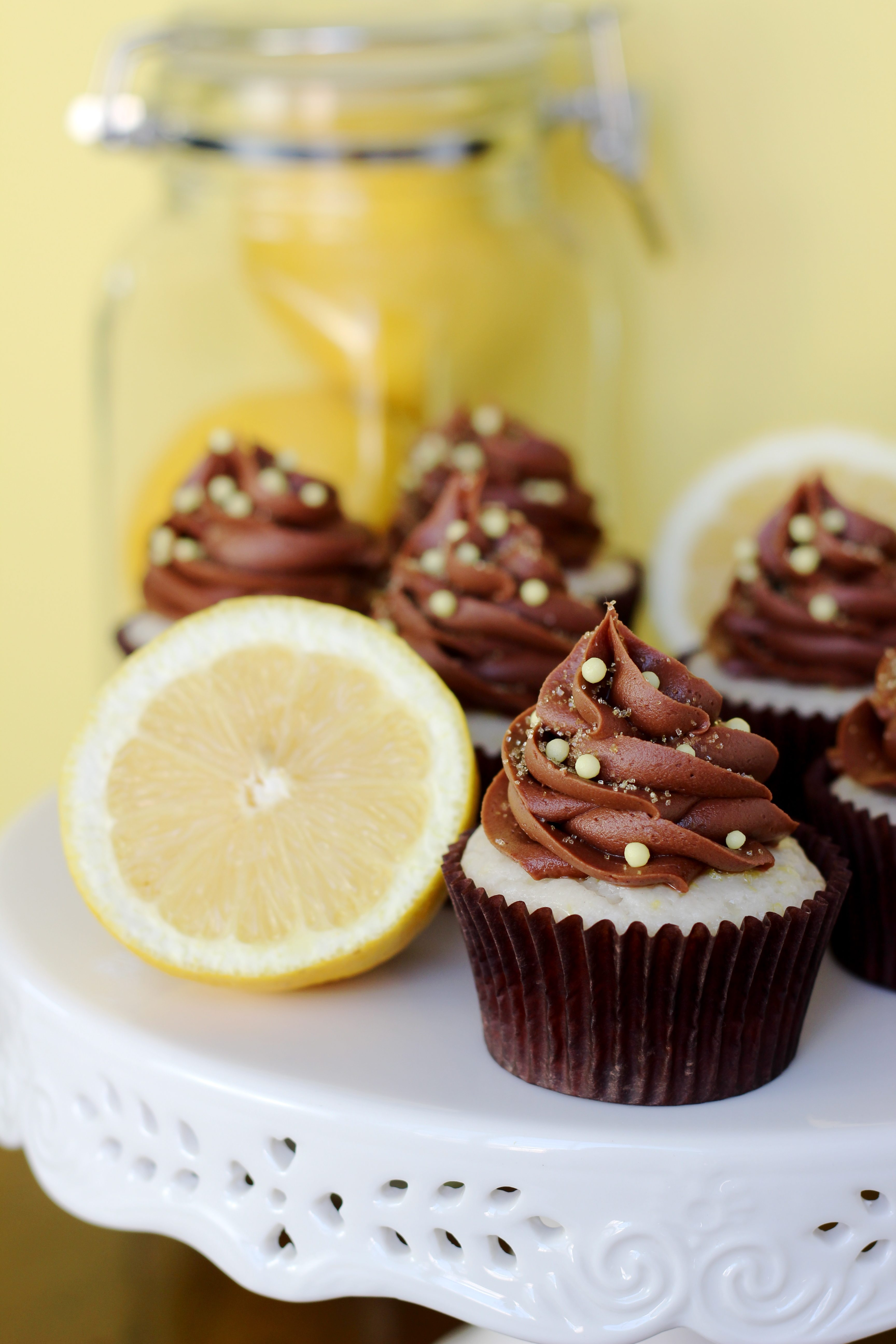 Chocolate Lemon Cupcakes Your Cup Of Cake