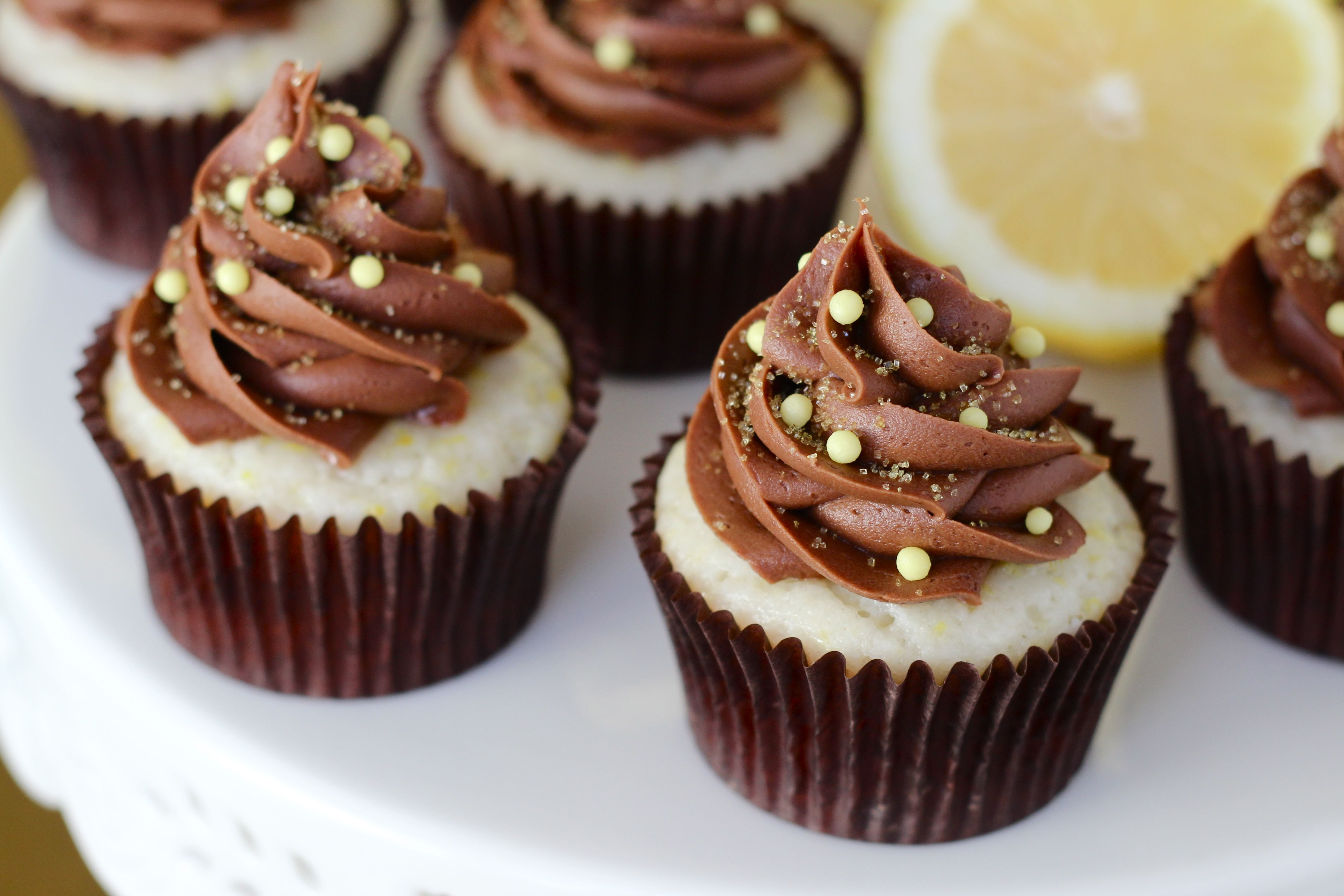 Chocolate Lemon Cupcakes - Your Cup of Cake