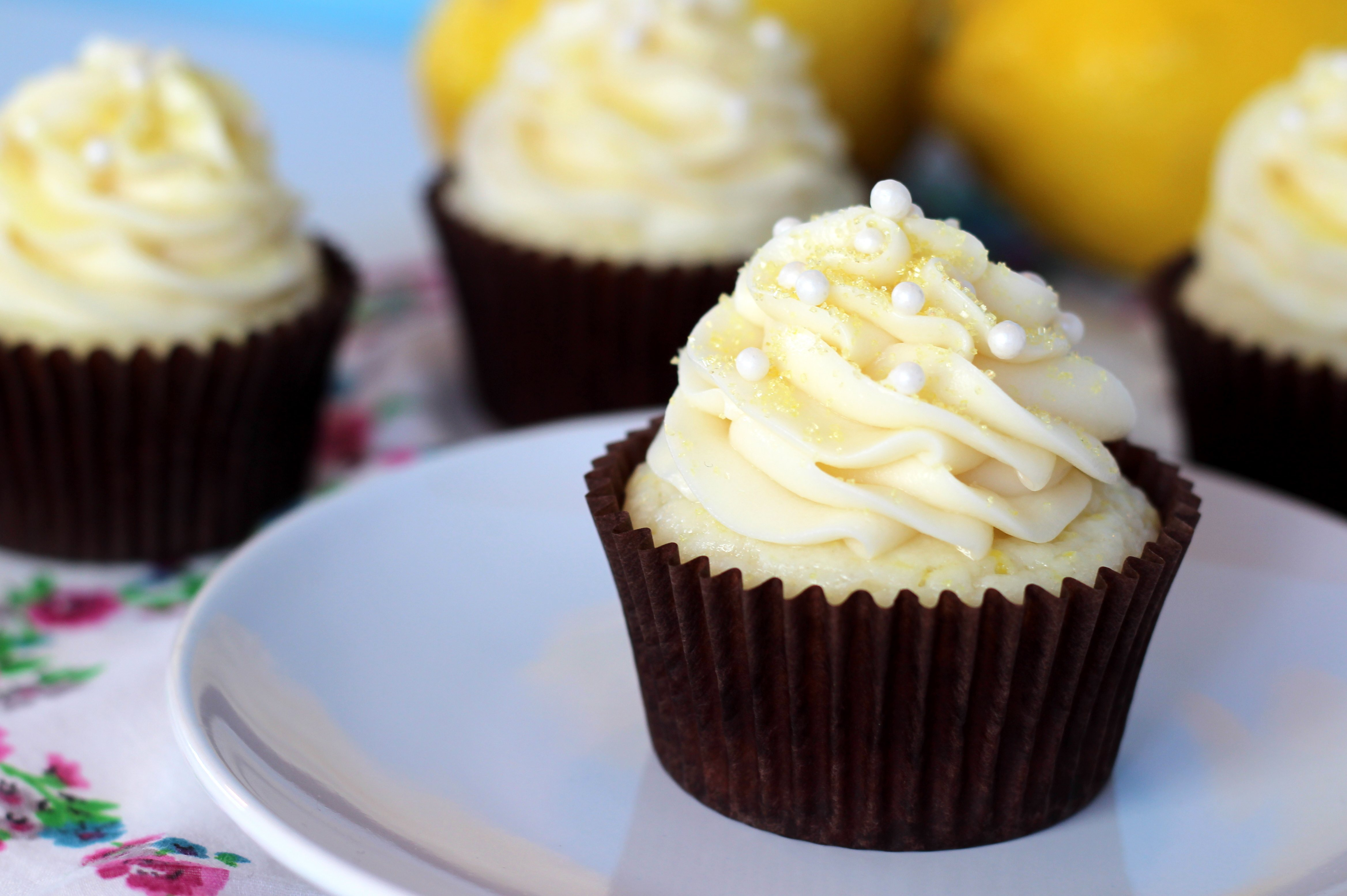 Lemon Cream Cupcakes - Your Cup of Cake