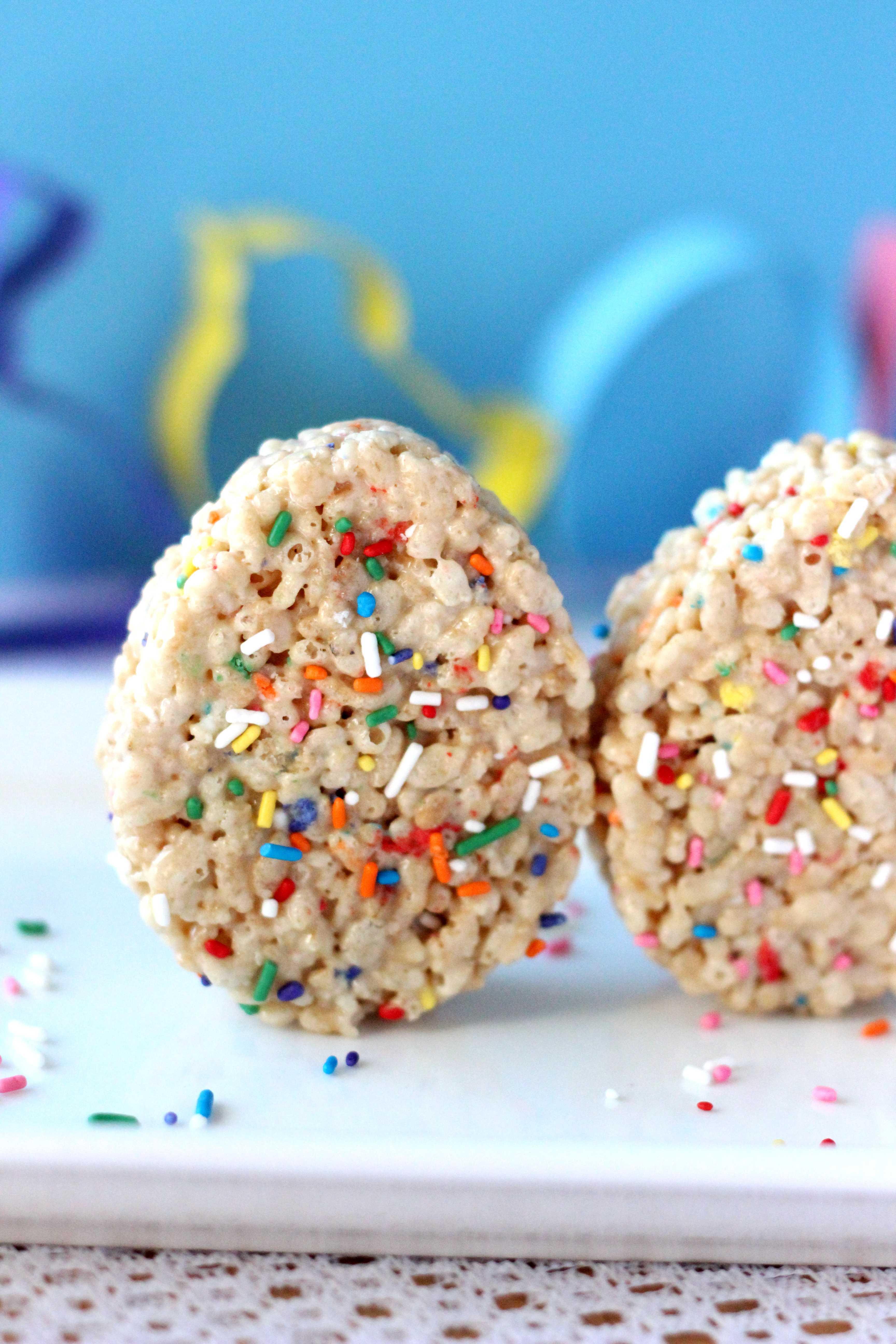 Cake Mix Rice Crispy Treat Easter Eggs