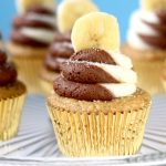 Banana Chocolate Swirl Cupcakes