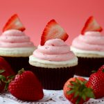 Strawberry White Chocolate Cupcakes