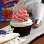 Strawberry Pop Tart Cupcakes