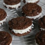 Chocolate Coconut Cookie Sandwiches