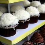 Coconut Cupcakes with Chocolate Ganache