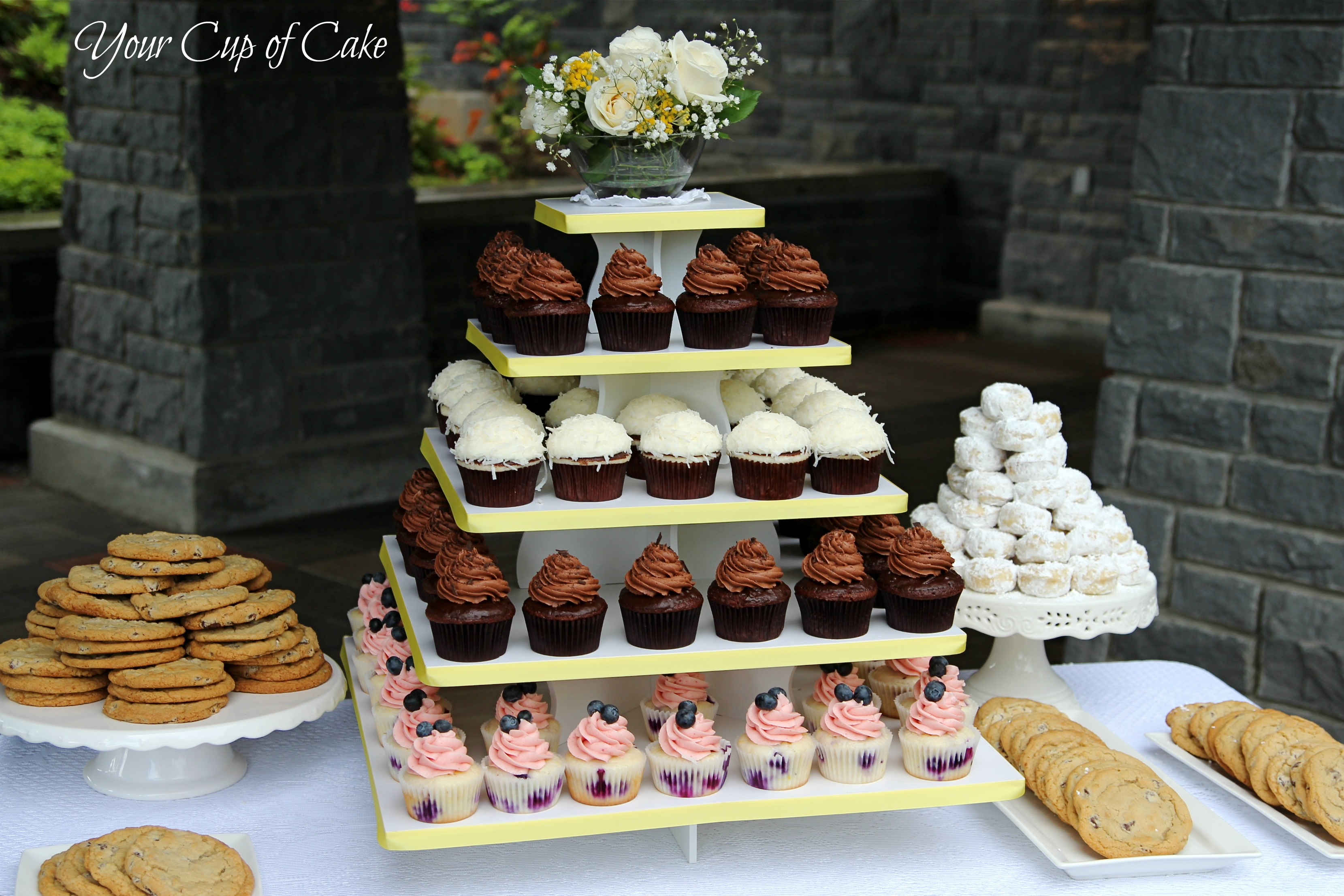 wedding cakes cupcakes tiers wedding reception your cup of cake 24132