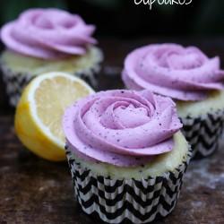 Blueberry Lemon Poppy Seed Cupcake