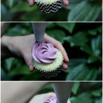 "How to Pipe a ""Rose"" Cupcake"
