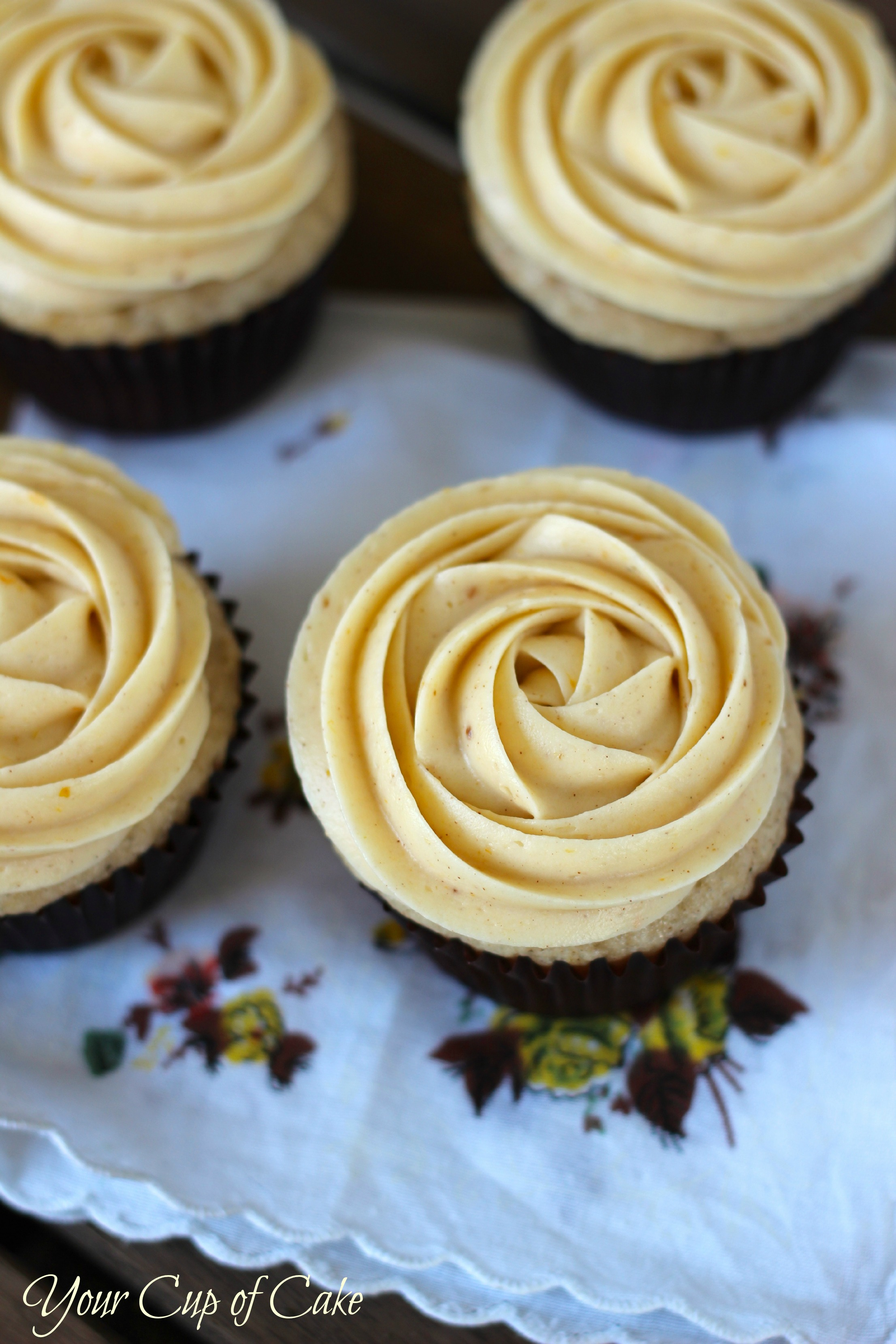 Pumpkin Rose Cupcakes Your Cup Of Cake