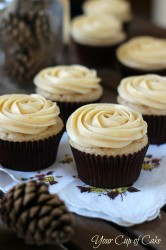 Pumpkin Rose Cupcakes