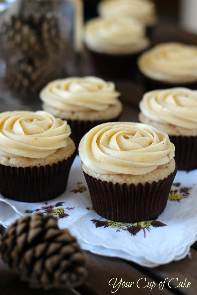 Pumpkin Cupcakes With Spice Cake Mix And Sour Cream