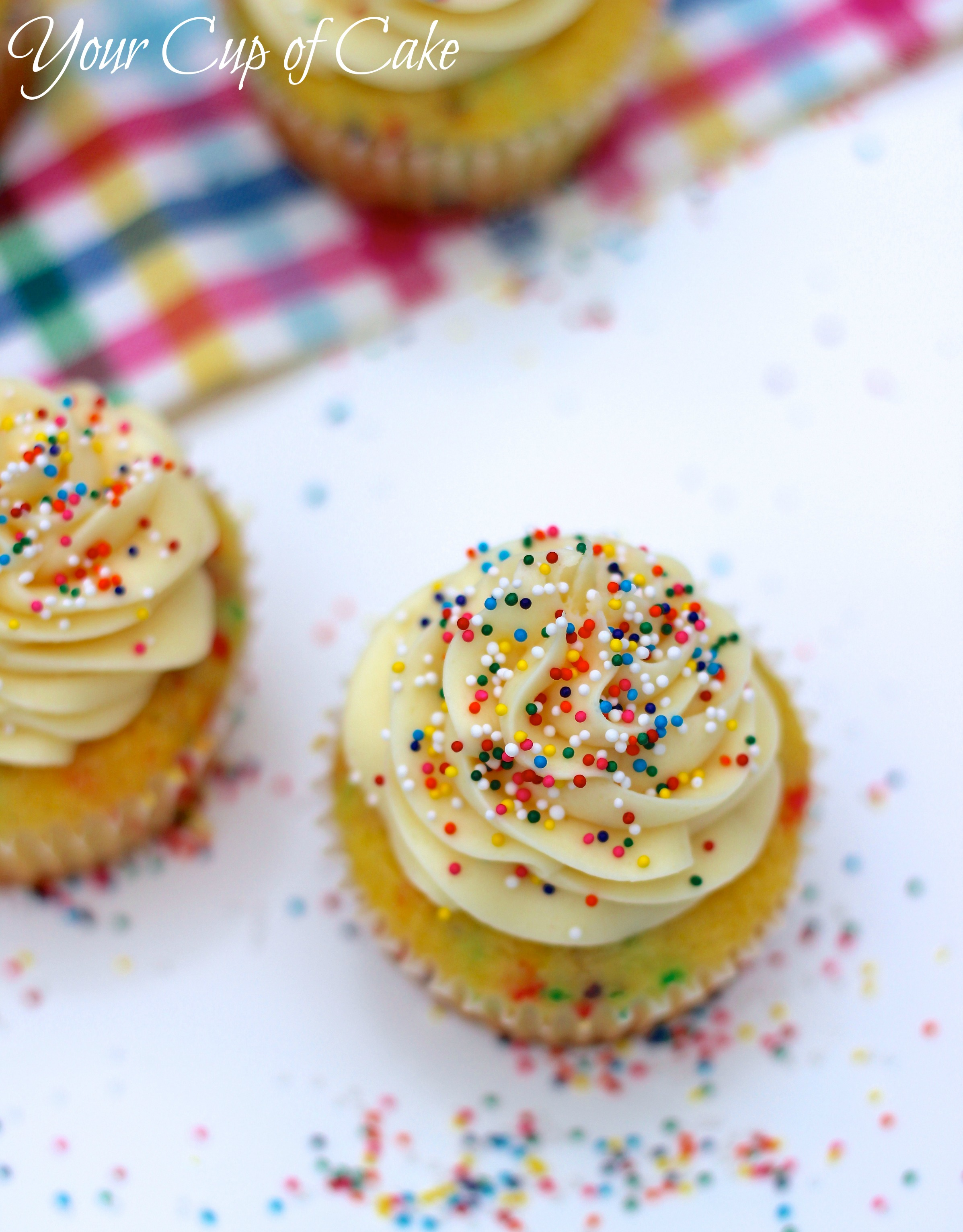 Cake With Cupcake Recipe : Cake Batter Cupcakes - Your Cup of Cake
