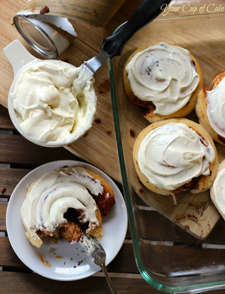 Eggnog Cinnamon Rolls - Your Cup of Cake