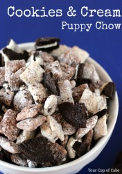 Cookies and Cream Muddy Buddies