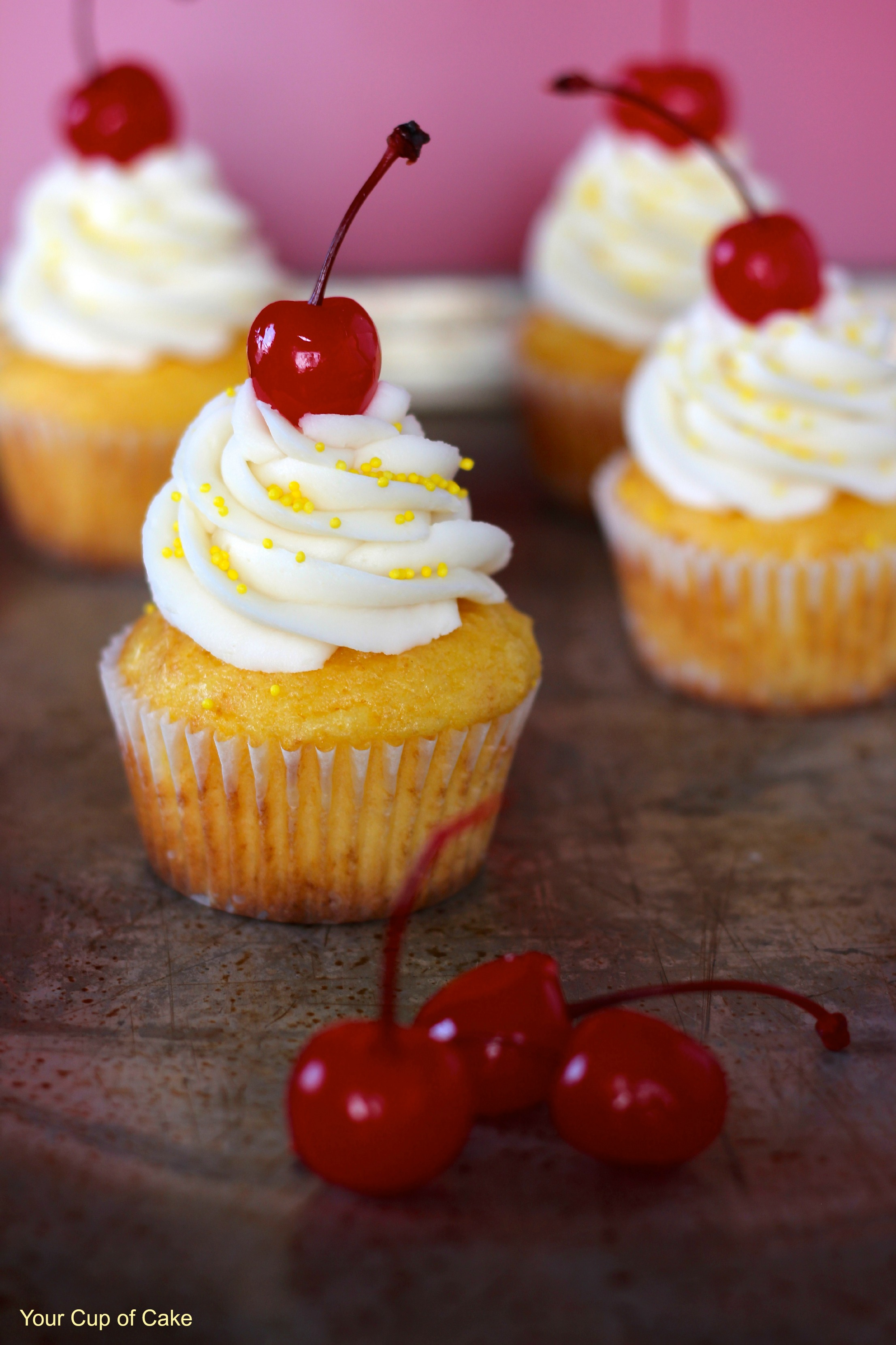 Pineapple Cream Cupcakes Your Cup Of Cake