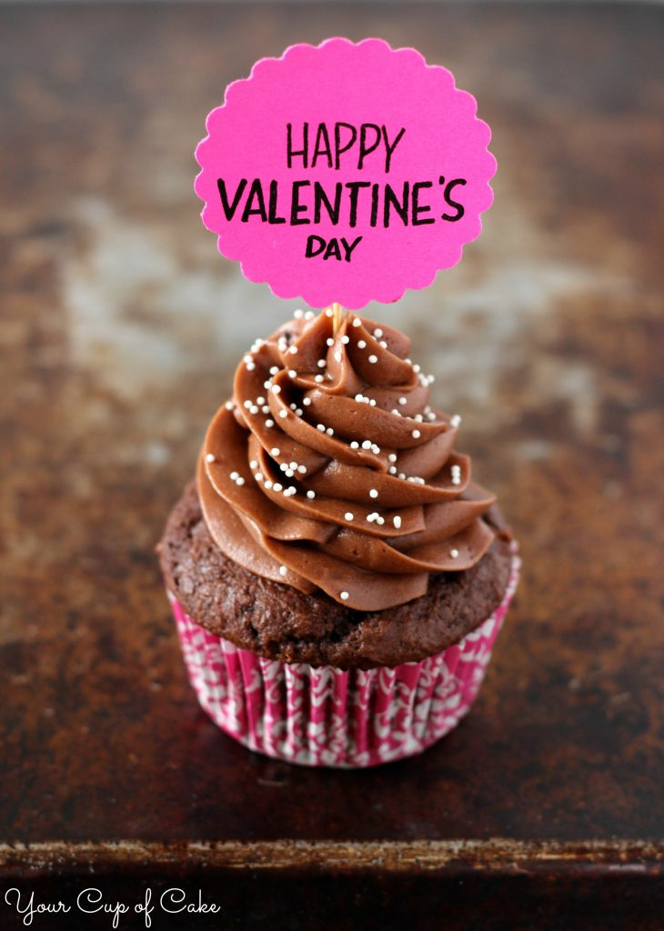 Happy Valentines Day Cupcake