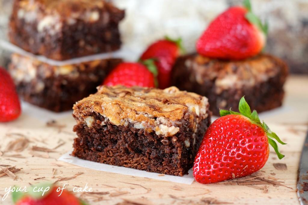 Strawberry Cream Cheese Brownie