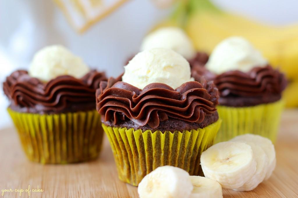 Chocolate Banana Cream Pie Cupcake