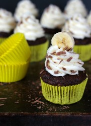 Chocolate Banana Hazelnut Cupcakes