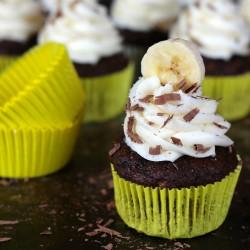 Chocolate Banana Hazelnut Cupcakes