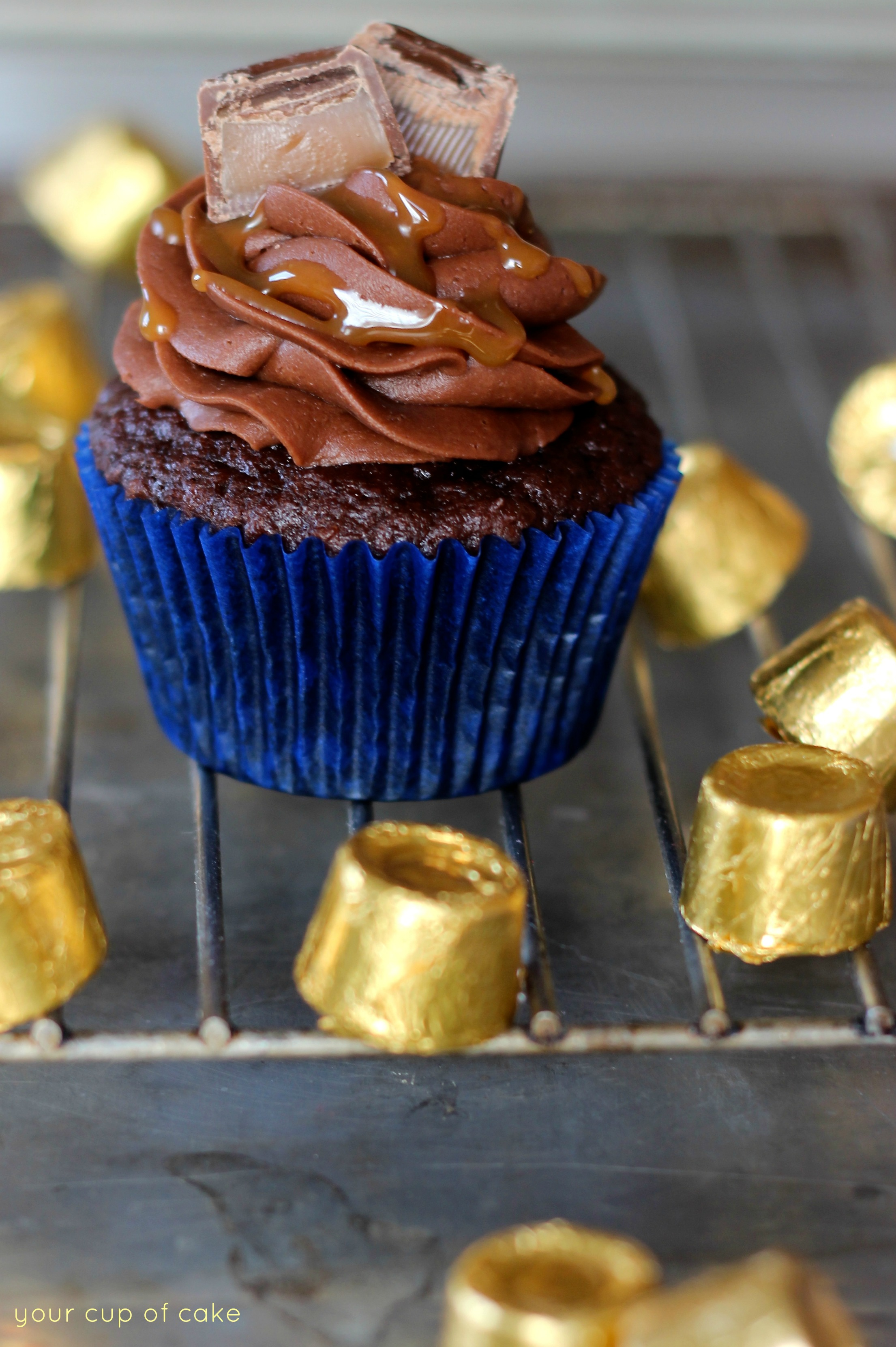 Rolo Cupcakes - Your Cup of Cake