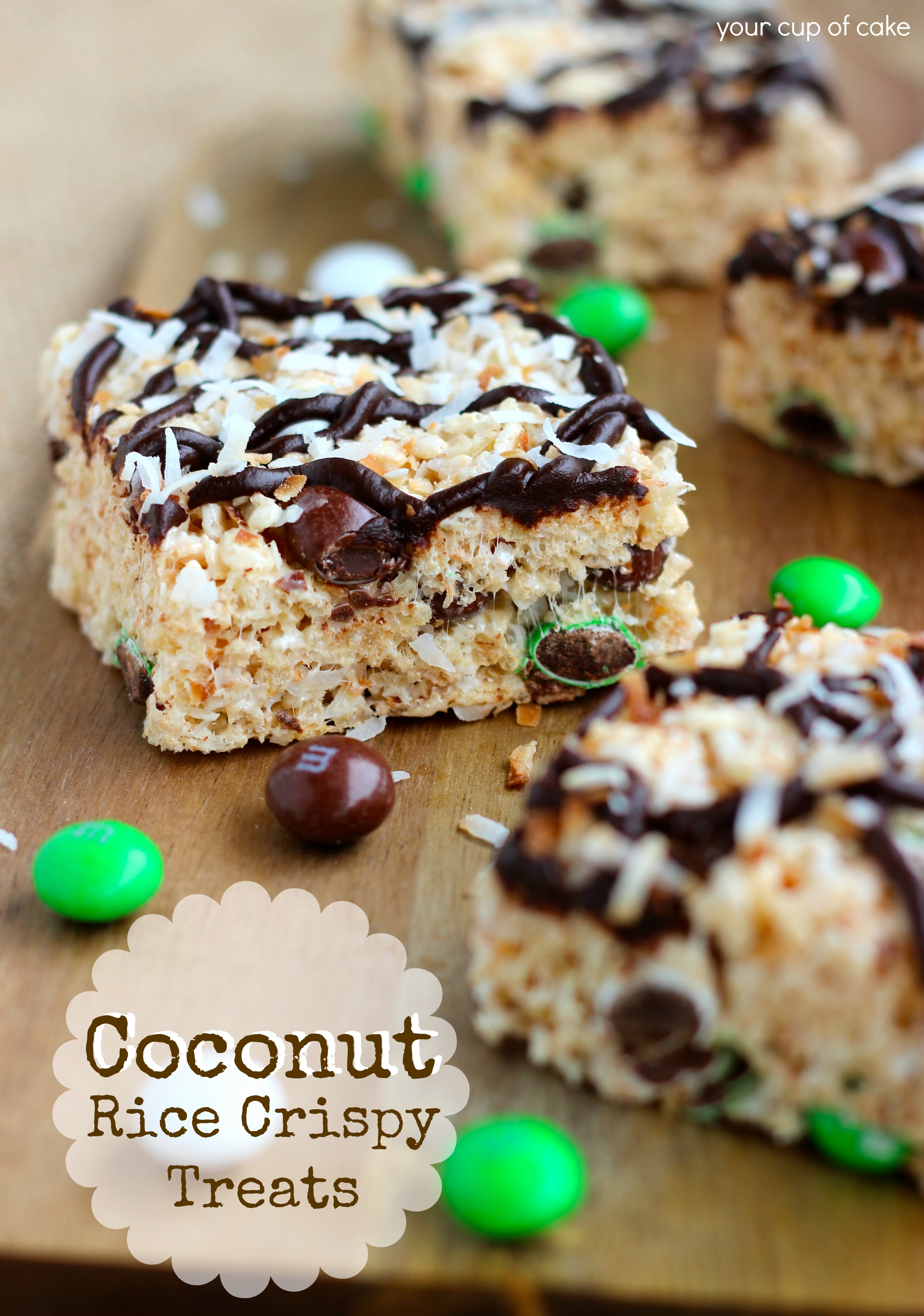 Coconut Rice Crispy Treats Your Cup Of Cake