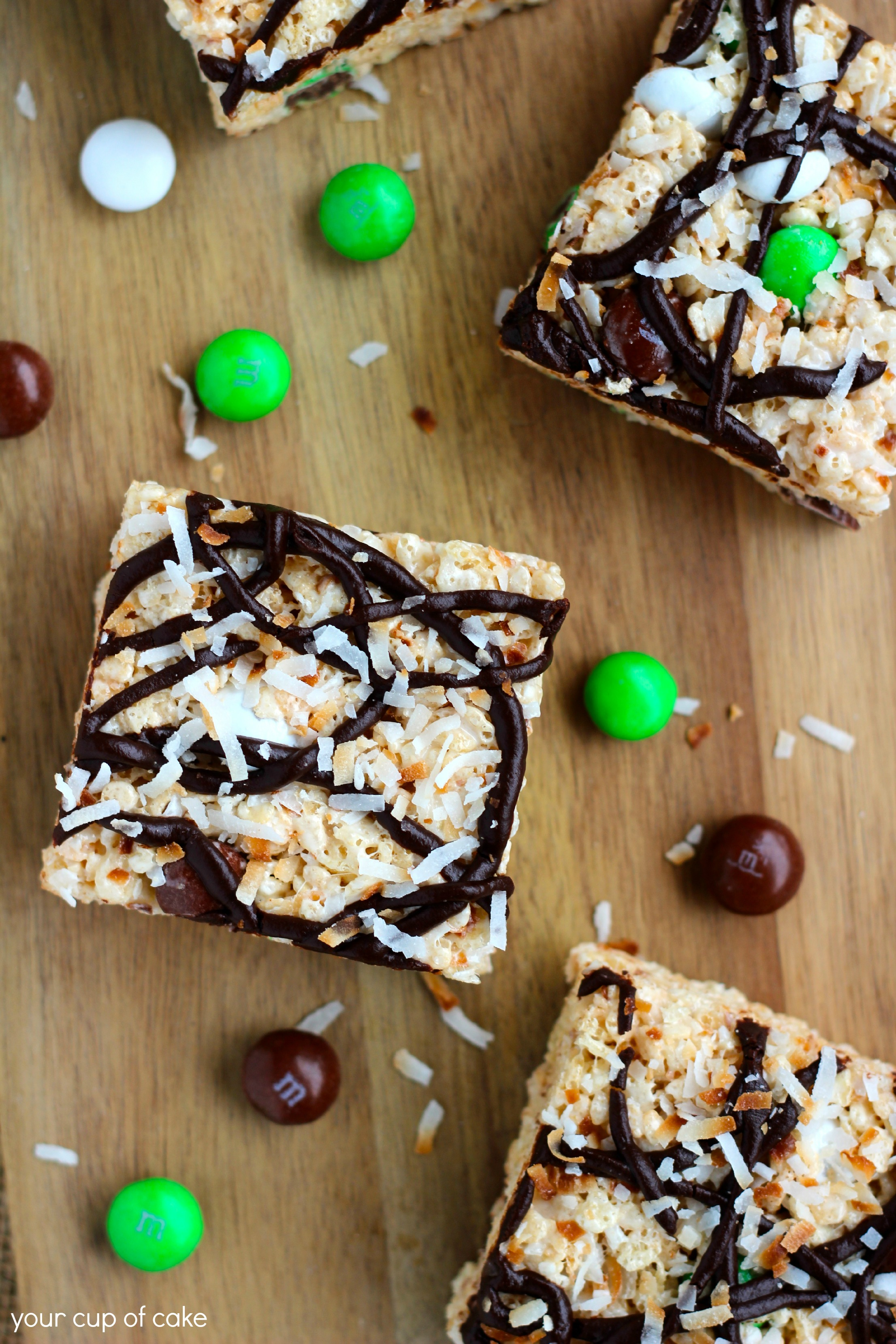 Coconut Rice Crispy Treats - Your Cup of Cake