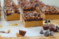 No Bake Peanut Butter Chocolate Bar