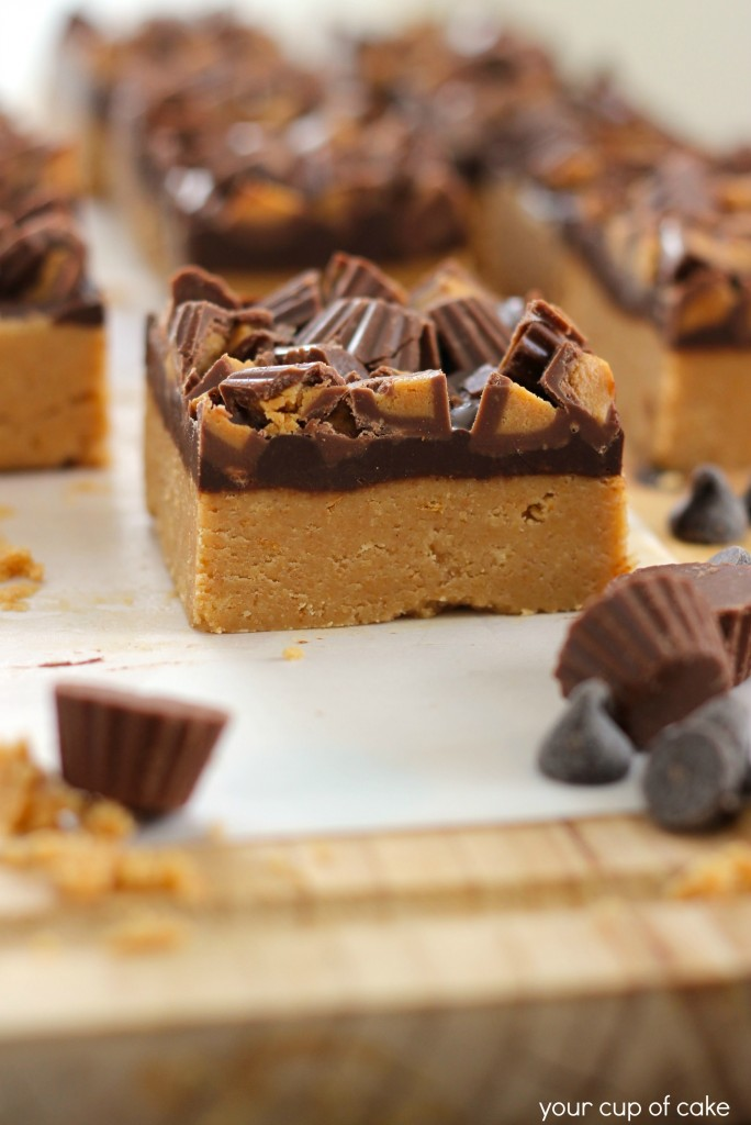 0f055dafb2a73d No Bake Peanut Butter Chocolate Bars - Your Cup of Cake