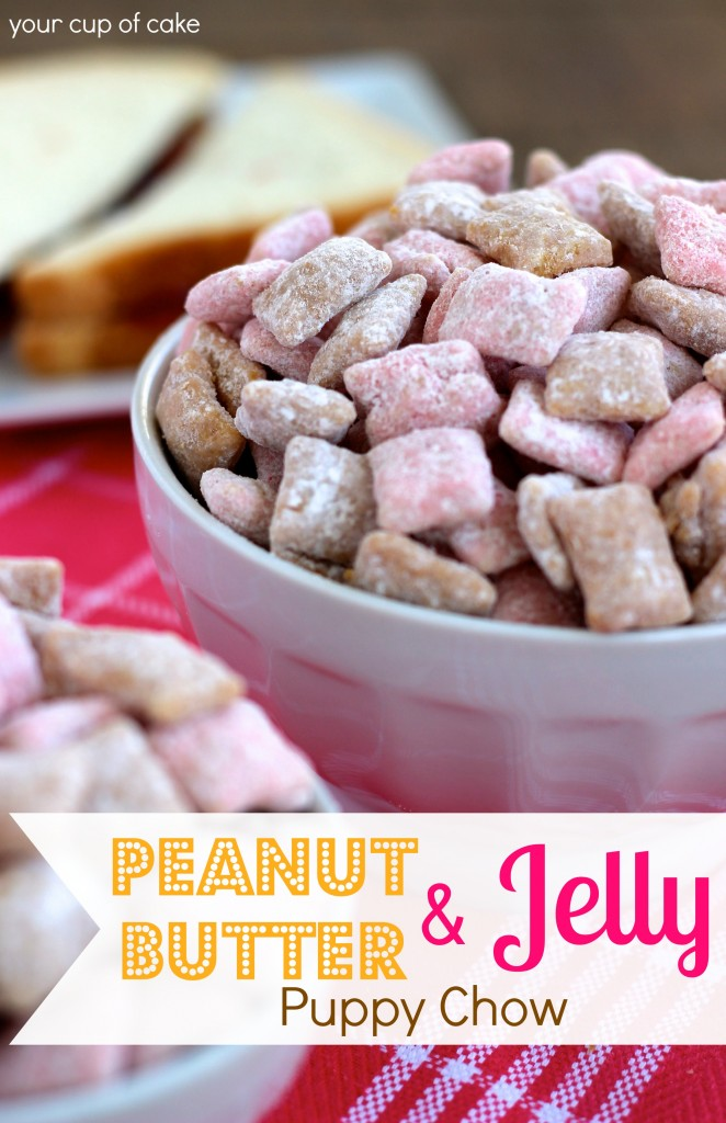 Peanut Butter and Jelly Puppy Chow