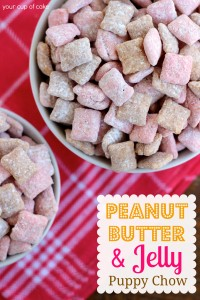 Peanut Butter and Jelly Puppy Chow recipe