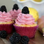 Blackberry Lemonade Cupcake