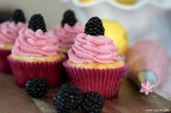 Blackberry Lemonade Cupcake