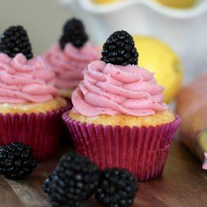 Blackberry Lemonade Cupcakes