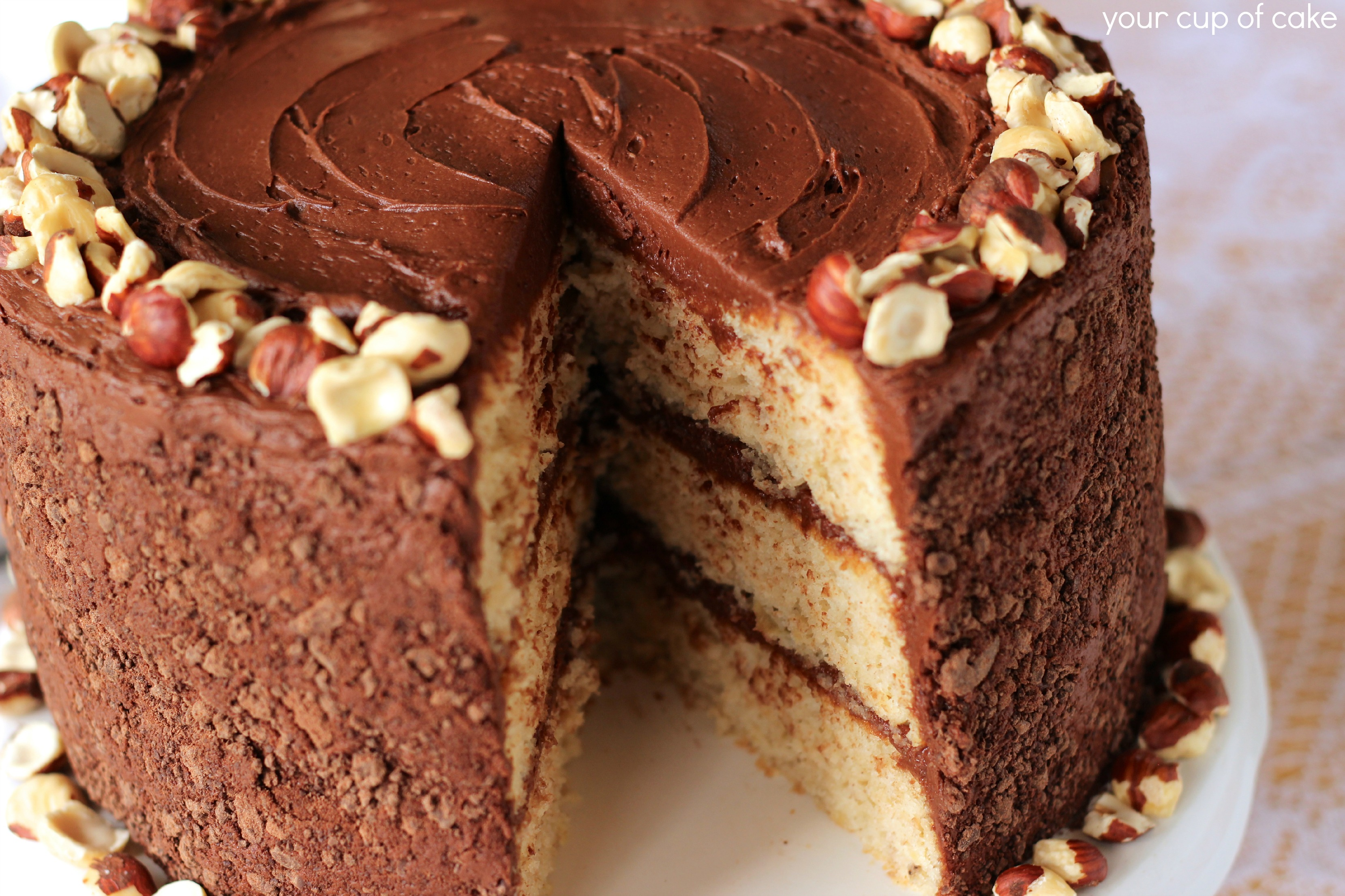 Banana Chocolate Hazelnut Cake - Your Cup of Cake