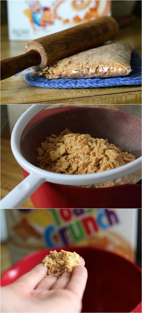 Making Cinnamon Toast Crunch Cupcakes