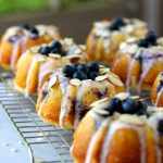 Blueberry Almond Mini Bundt Cakes