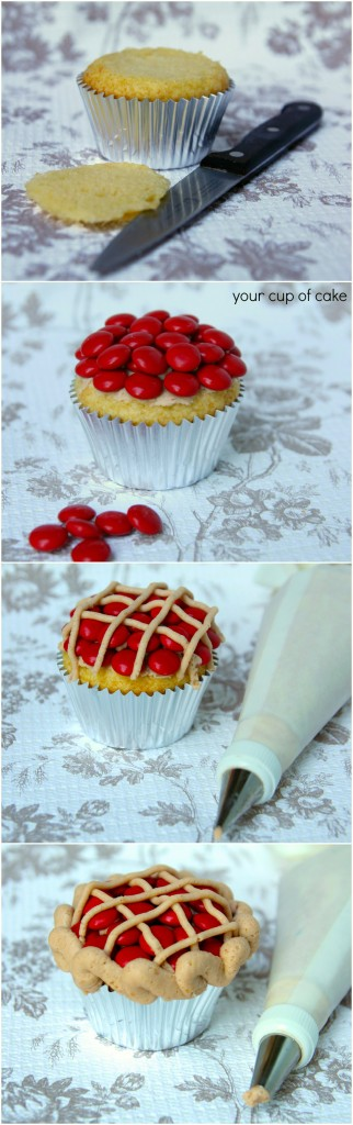 Cherry Pie Cupcake